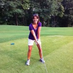 golf with Heather