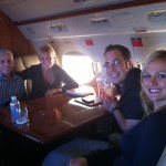 Heading to Chicago on the Gulfstream