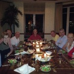 dinner with friends in Florida