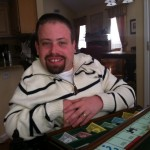 Eric playing Monopoly