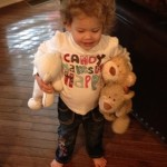 Ella with her bears